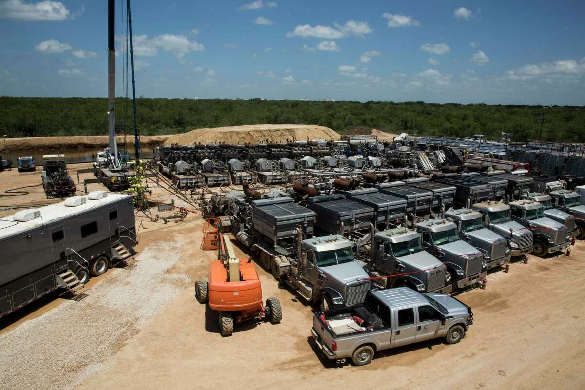 Abraxas produced 9,900 barrels a day of oil as of the end of last year, the company said in its annual 2019 report. It sold off its South Texas assets in the fall, but still has operations operations in West Texas' Permian Basin and the Williston Basin in North Dakota. Shown in this 2016 photo is an Abraxas frac spread.