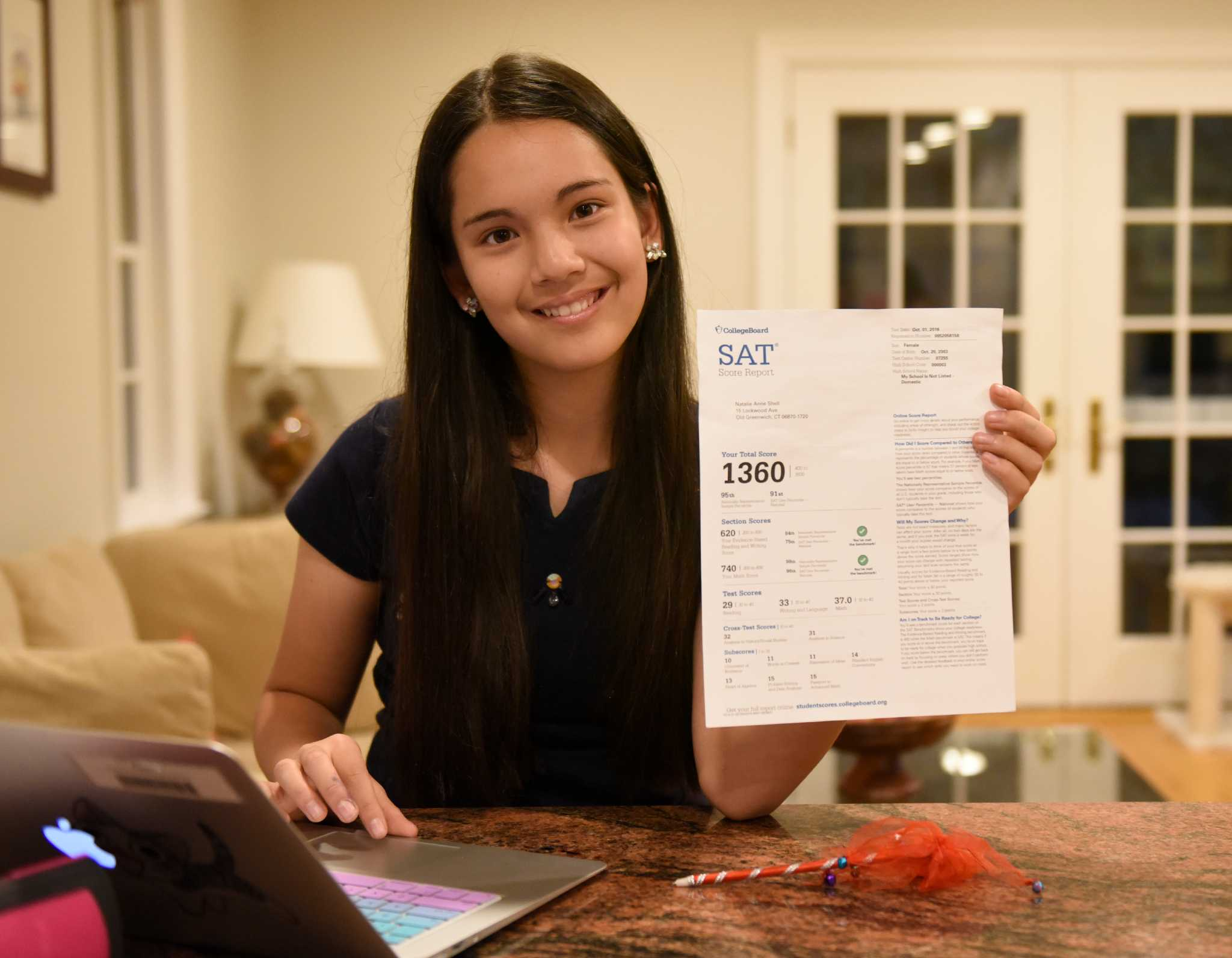 greenwich middle schooler gets on math sat greenwichtime