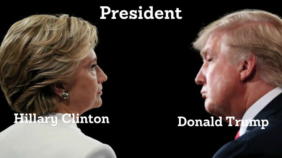 Hillary Clinton faces Donald Trump for the Presidency of the United States