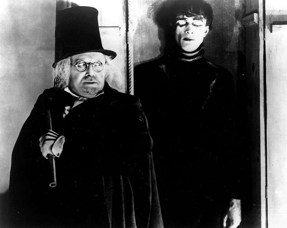"""""""The Cabinet of Dr. Caligari"""" (1920)A silent, creepy German horror film, """"Dr. Caligari"""" is full of strange expressionist imagery. The story of a hypnotist who uses his gift to force a man to commit murders is considered a classic."""