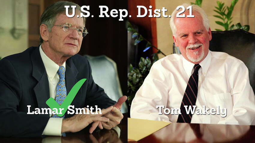 U.S. Rep. Lamar Smith, R-San Antonio, has won another term to lead Texas Congressional District 21. He defeated Democratic challenger Tom Wakely