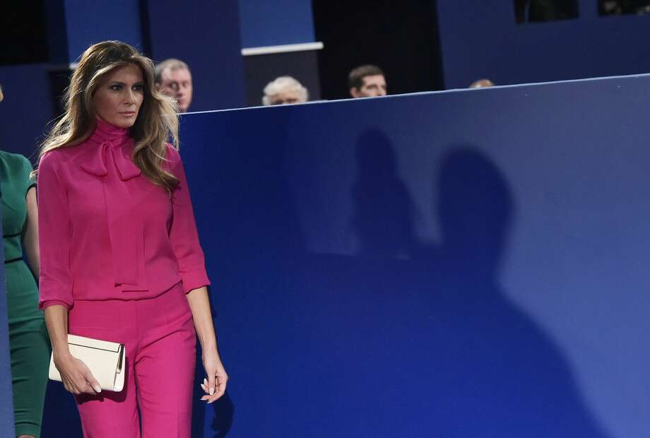 Melania Trump arrives for the second presidential debate between Republican presidential nominee Donald Trump and Democratic contender Hillary Clinton at Washington University in St. Louis, Missouri on October 9, 2016. / AFP / MANDEL NGAN        (Photo credit should read MANDEL NGAN/AFP/Getty Images) Photo: Getty Images
