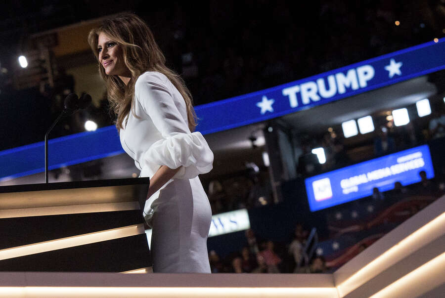 10) Melania's weird sleeves. (For more, scroll through the gallery.) Photo: Getty Images