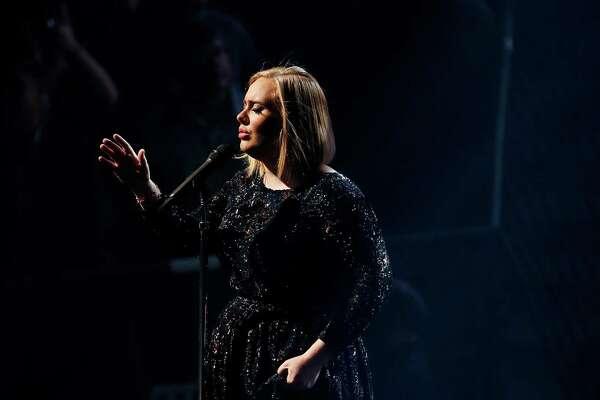 HOUSTON, TX - NOVEMBER 08:  Adele performs in concert at the Toyota Center on November 8, 2016 in Houston, Texas.