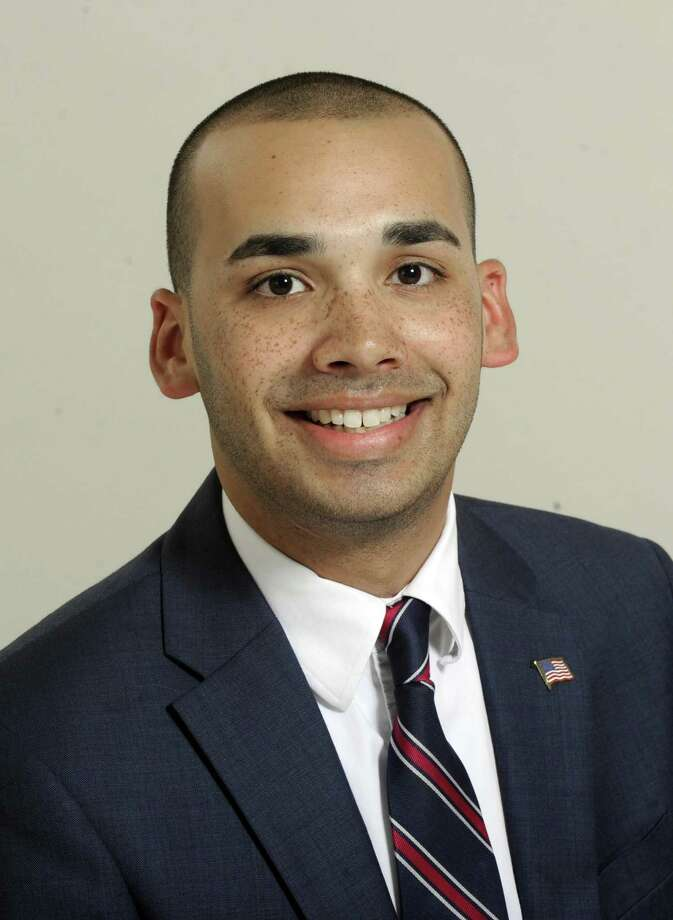 Democrat Raghib Allie-Brennan, pictured, and Republican Will Duff are vying for state Rep. Dan Carter's open seat in District 2. The two met with The News-Times editorial board Thursday, Oct. 6, 2016. Photo: Carol Kaliff / Hearst Connecticut Media / The News-Times