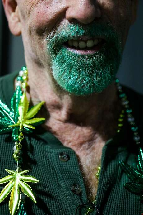 Patrick McCartney stands for a portrait before going to the Berkeley Patients Group Party to celebrate Prop 64. Photo: Gabrielle Lurie, The Chronicle
