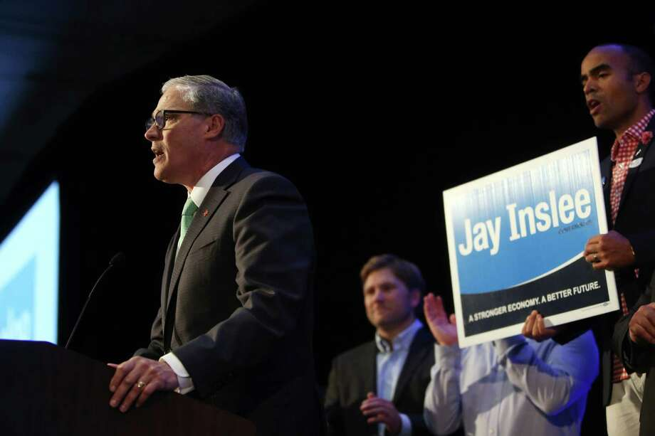 Governor Jay Inslee is a conviction politician on immigrant rights.  He has welcomes Syrian refugees, spoken at a mosque in Redmond, and once joked about building a wall around Washington to keep out Donald Trump.  Photo: SEATTLEPI.COM / SEATTLEPI.COM