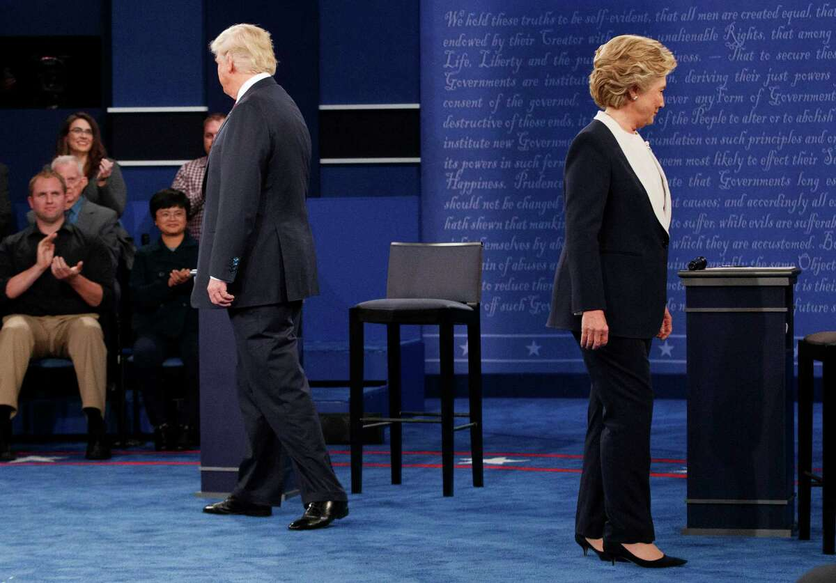Record numbers of viewers watched the presidential debates as they made their decisions on two unpopular candidates.