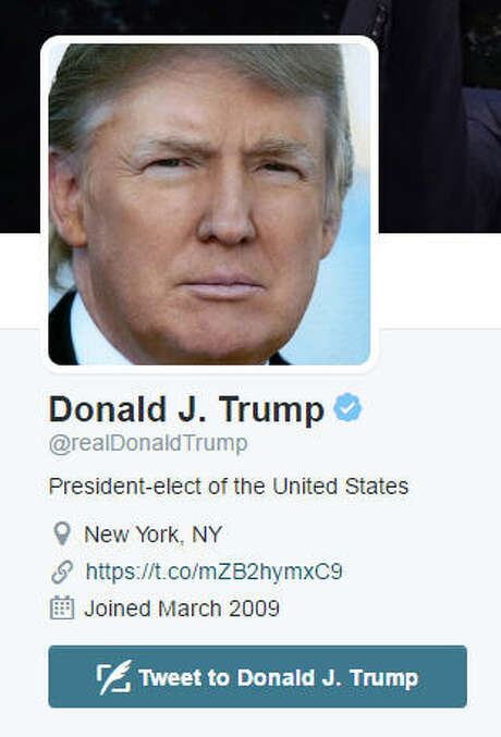 Should the president-elect give up his Twitter account? Photo: Twitter