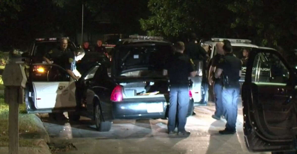 A man was taken into custody after a brief police chase began about 11:50 p.m. Tuesday, Nov. 8, 2016, on Shepherd near the North Freeway in north Houston. (Metro Video)