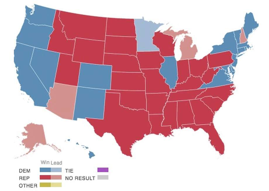 How Bexar County And The States Voted For President San Antonio - Us county red blue map