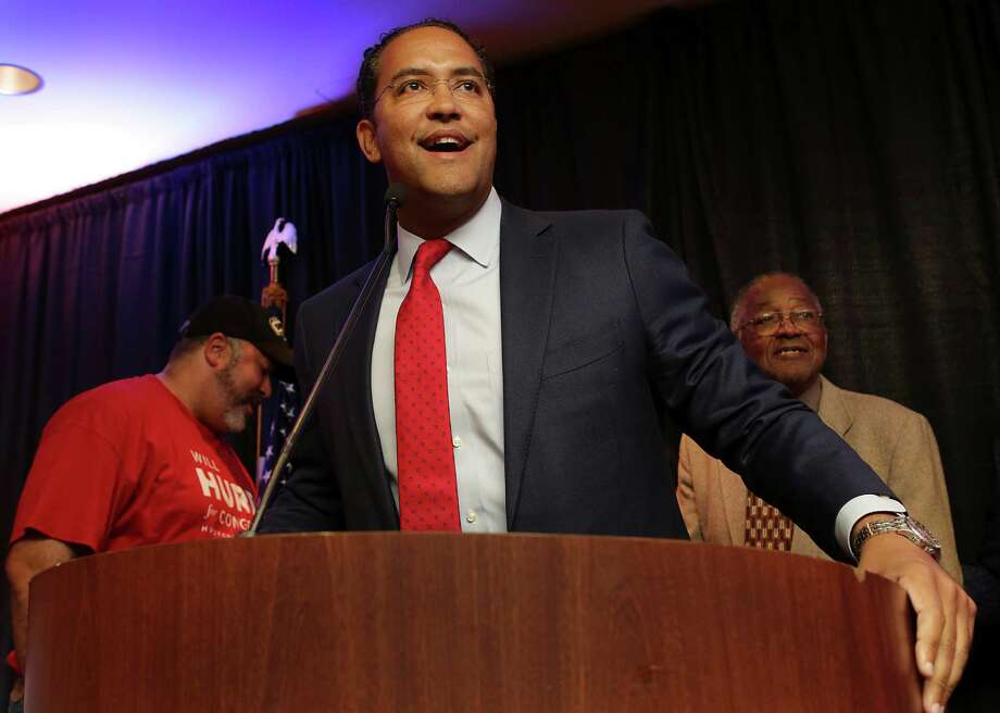 U.S. Rep. Will Hurd, R- Helotes running for Congress in District 23, talks with supporters as they watch the election results come in at the Eilan Hotel and Spa , on Tuesday Nov. 8, 2016. Photo: Bob Owen, San Antonio Express-News / ©2016 San Antonio Express-News