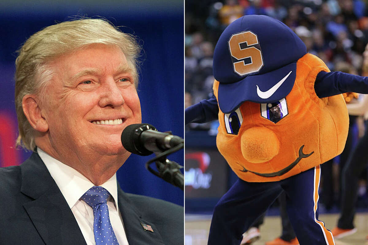 Donald Trump defeated Hillary Clintoin every county in Central New York except Onondaga County ... home or the Syracuse Orangemen. (Photo by Jessica Kourkounis/Getty Images)