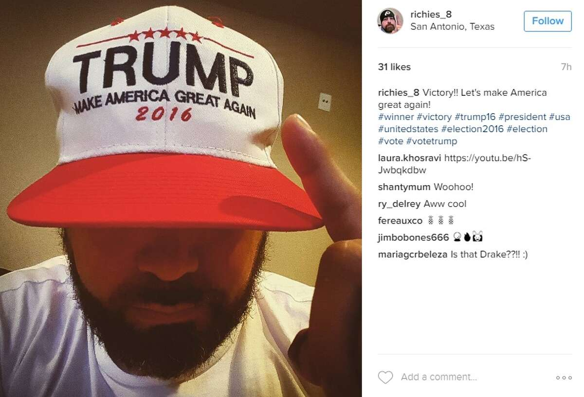 """""""Victory!! Let's make America great again! #winner #victory #trump16 #president #usa #unitedstates #election2016 #election #vote #votetrump,"""" @richies_8."""