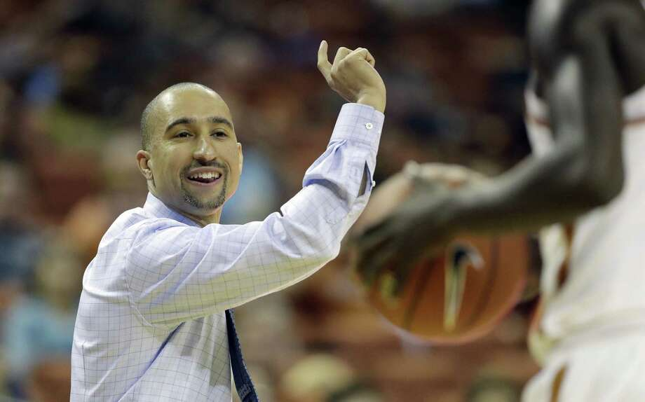 Texas coach Shaka Smart signals to his players during the first half against Angelo State on Nov. 2, 2016, in Austin. Photo: Eric Gay /Associated Press / Copyright 2016 The Associated Press. All rights reserved.