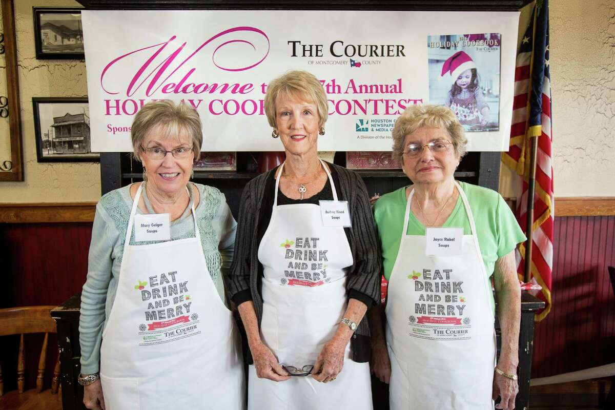 Soup contestants Mary Geiger, Audrey Wood and Joyce Rabel pose for a photo on Saturday, Oct. 29, 2016, at McKenzie's Barbeque in Conroe.