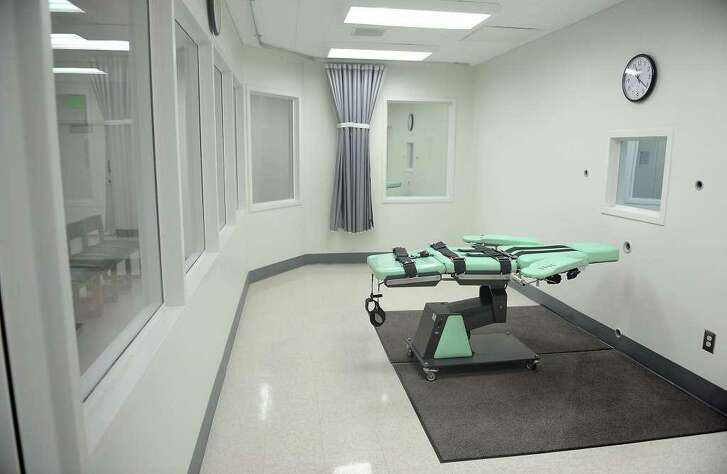 A view of the lethal injection chamber at San Quentin State Prison in a September 2010 file image.