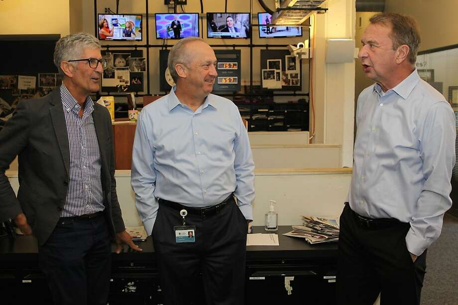 KCBS radio people, left to right: Stan Bunger, Doug Harvill and Jack Swanson. Photo: Tim Jordan