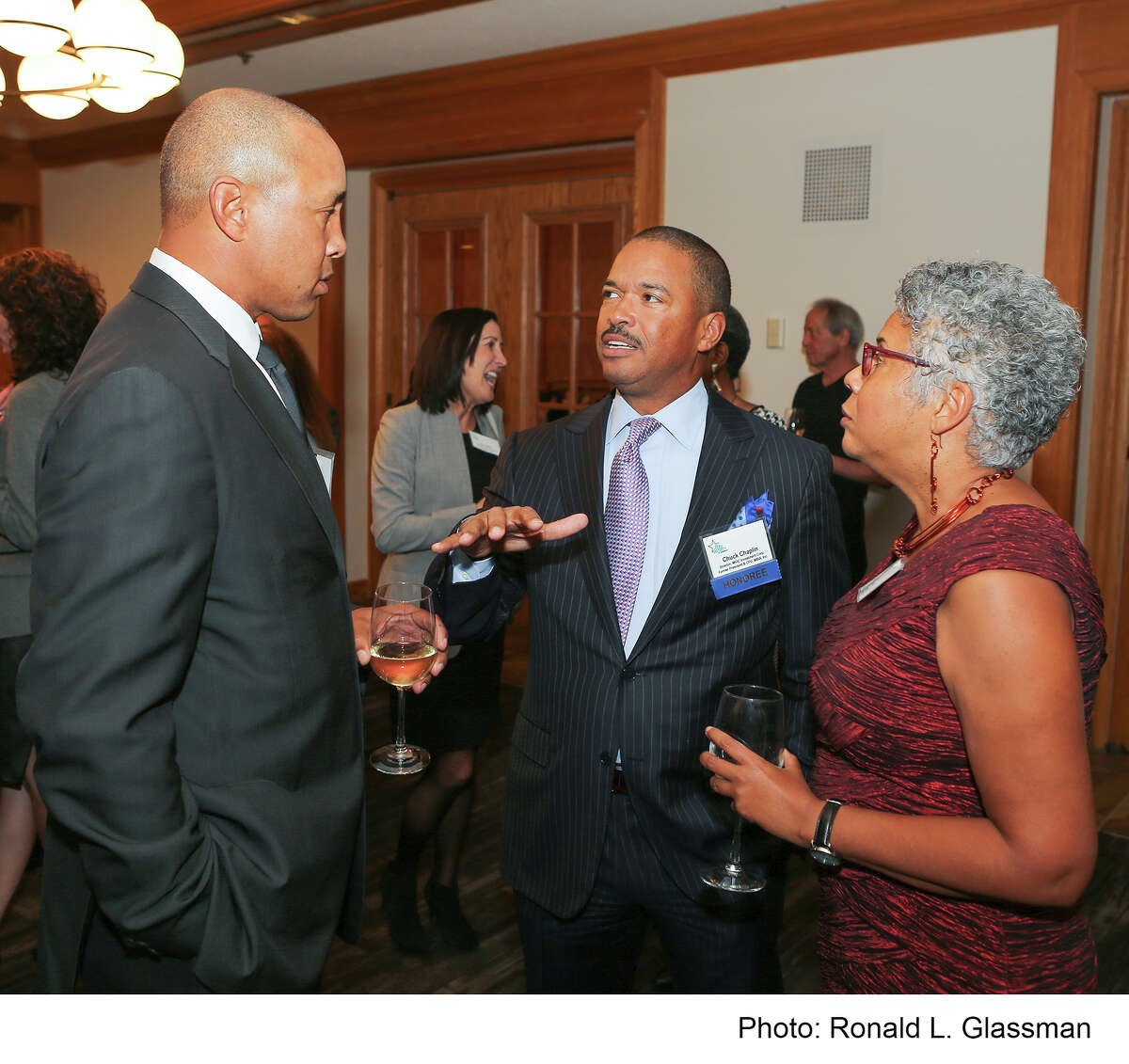 (Left to Right) John Starks (Former New York Knicks Shooting Guard), Chuck Chaplin (Director, MGIC Investment Corporation and Former President & Chief Financial Officer, MBIA), and Pamela A. Lewis (Director, All Stars Project of Bridgeport and Vice President/Youth Programs, All Stars Project, Inc.) November 7, 2016 at