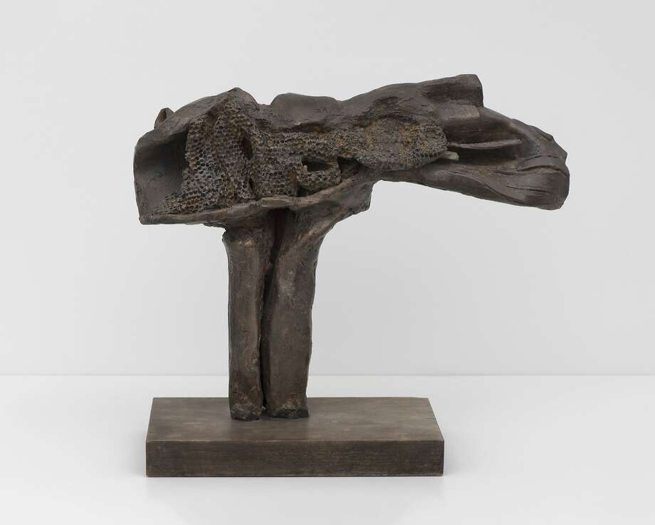 """Turgor"" (circa 1963) is among Ruth Horsting's virtually unknown Abstract Express ionist bronzes. Photo: Ben Blackwell, UC Davis"