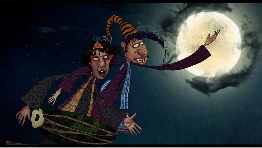 "A scene from ""The World of Goopi and Bagha,"" Shilpa Ranade's animated remake of a Satyajit Ray children's film. Photo: 3rd I"