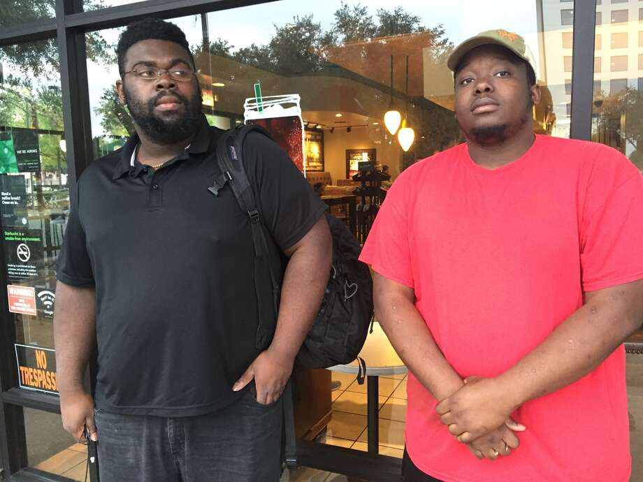 Brandon Myers, left and Dareon Brown, said they'd underestimated support for Trump. Photo: Dylan Baddour, Houston Chronicle