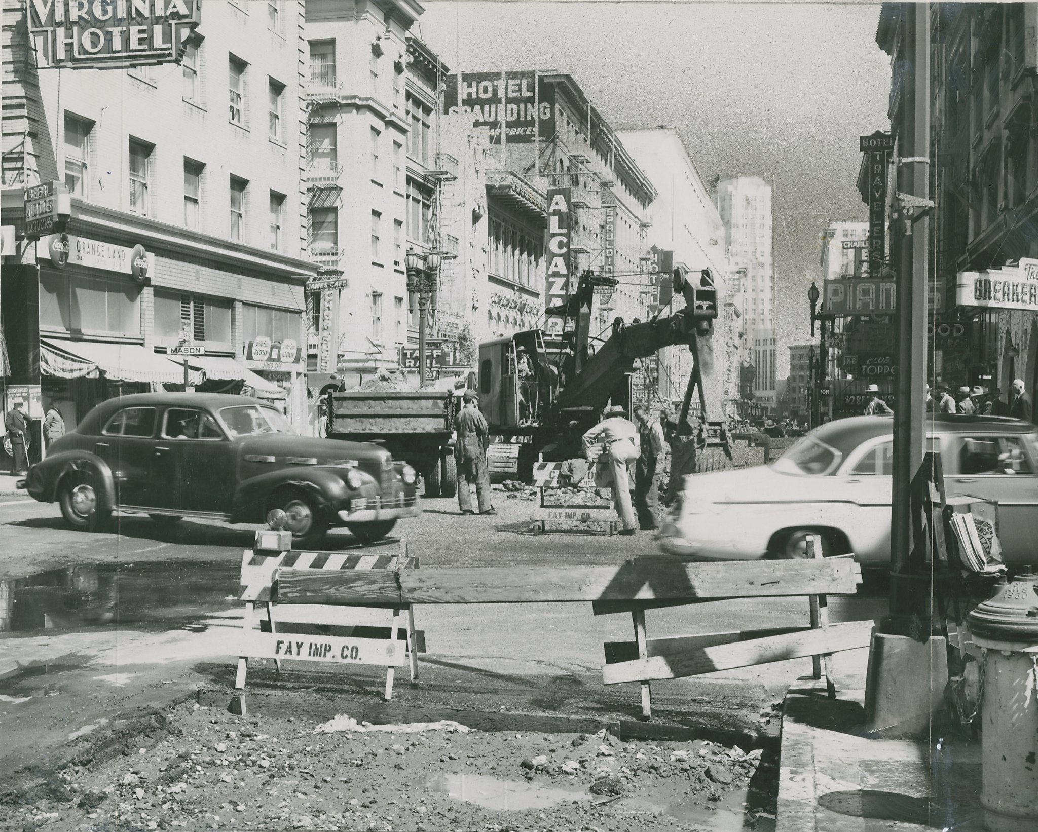post war san francisco under construction from unseen chronicle