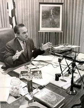 METRO / DAILY -- George Wallace, former Governor of Alabama, seen in his office in a 1969 file photo. CREDIT:EXPRESS-NEWS FILE PHOTO