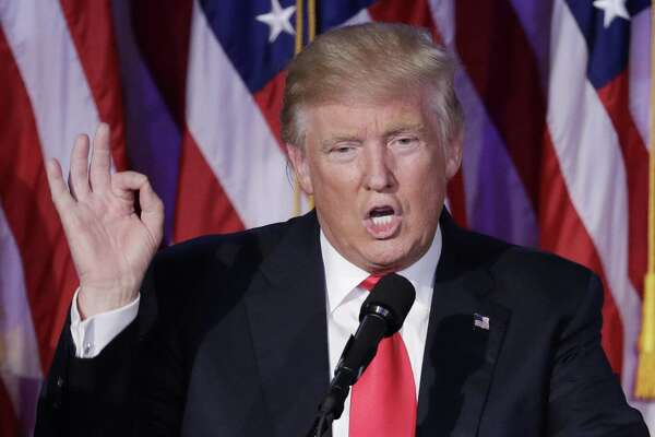 President-elect Donald Trump gives his acceptance speech during an election night rally Wednesday. Trump obviously was the election's big winner.