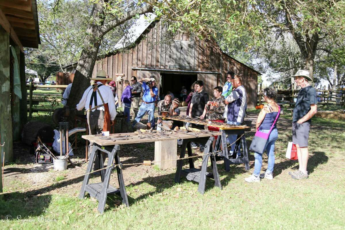 Members of the Houston Area Blacksmith Association demonstrate their craft at a previous Martyn Farm Harvest Celebration. This year's event is scheduled 10 a.m.-4 p.m. Nov. 12-13 at the Armand Bayou Nature Center, 8500 Bay Area Blvd., Pasadena.