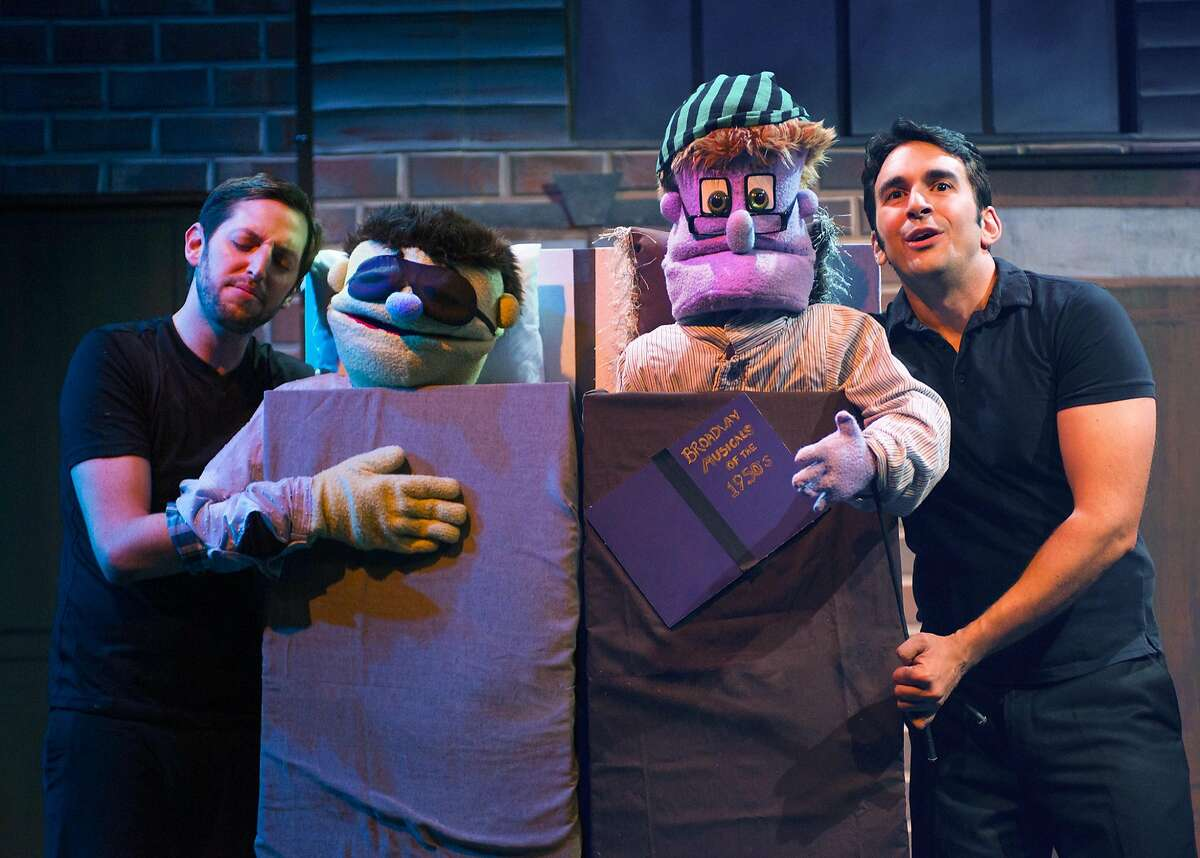 """Chris Morrell, left, and William Giammona in NCTC's """"Avenue Q."""""""