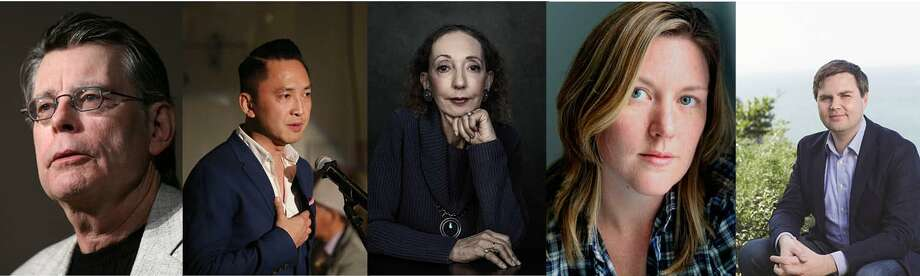 Speaking out: Stephen King, Viet Thanh Nguyen, Joyce Carol Oates, Maggie Shipstead and J.D. Vance.