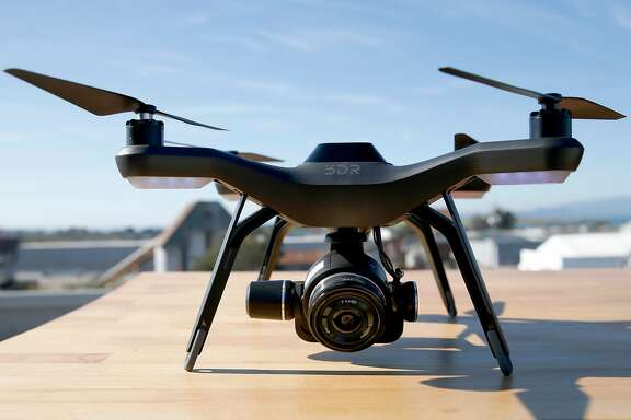 3DR Site Scan, a new drone from 3D Robotics, is seen during a demo at a news conference on Wednesday, Nov. 9, 2016 in Berkeley, Calif.