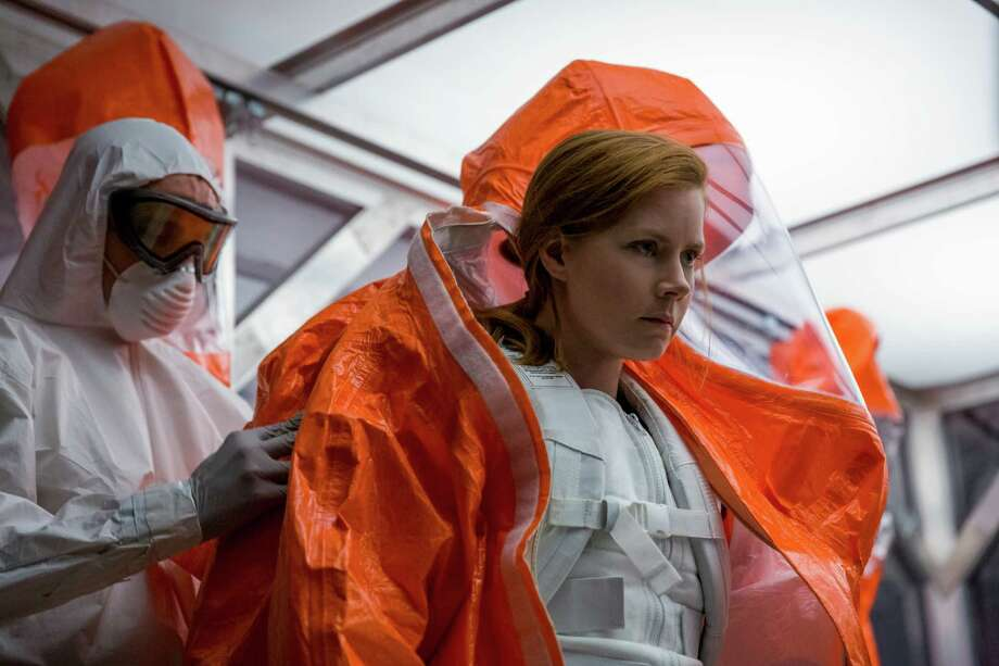"""This image released by Paramount Pictures shows Amy Adams in a scene from """"Arrival."""" (Jan Thijs/Paramount Pictures via AP) Photo: Jan Thijs, HONS / © 2016 PARAMOUNT PICTURES. ALL RIGHTS RESERVED."""
