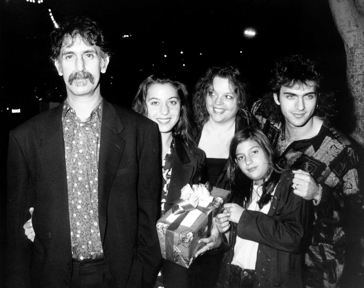 The Zappa family: Frank Zappa, from left, wife Gail, and children Moon Unit, Ahmet and Dweezil.