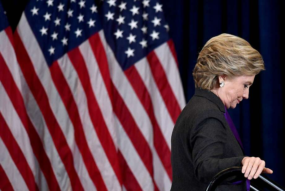 Hillary Clinton on the morning after the election Photo: JEWEL SAMAD, AFP/Getty Images
