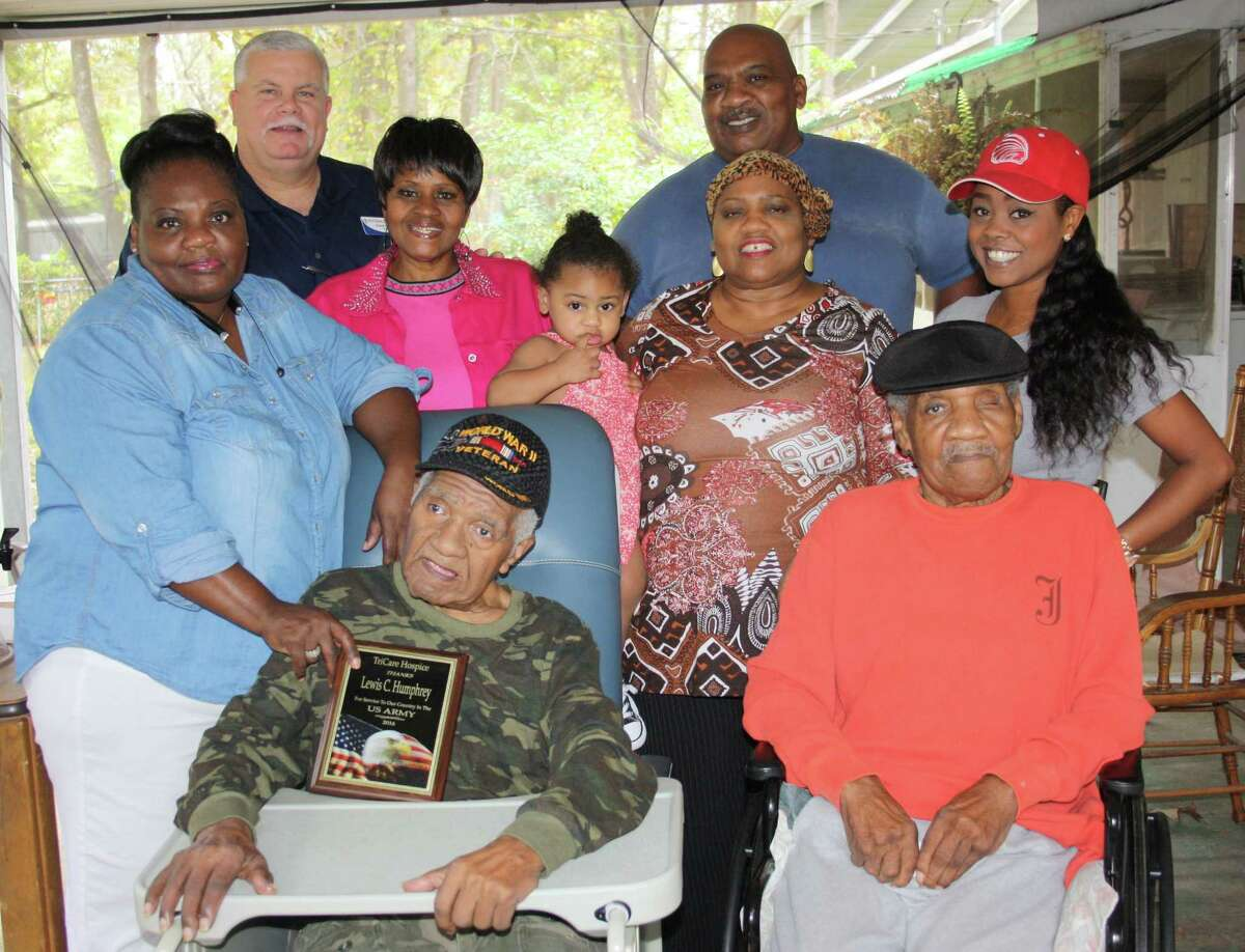 TriCare Hospice of Kingwood paid tribute to a Cleveland World War II veteran Wednesday, Nov. 9. Lewis Columbus