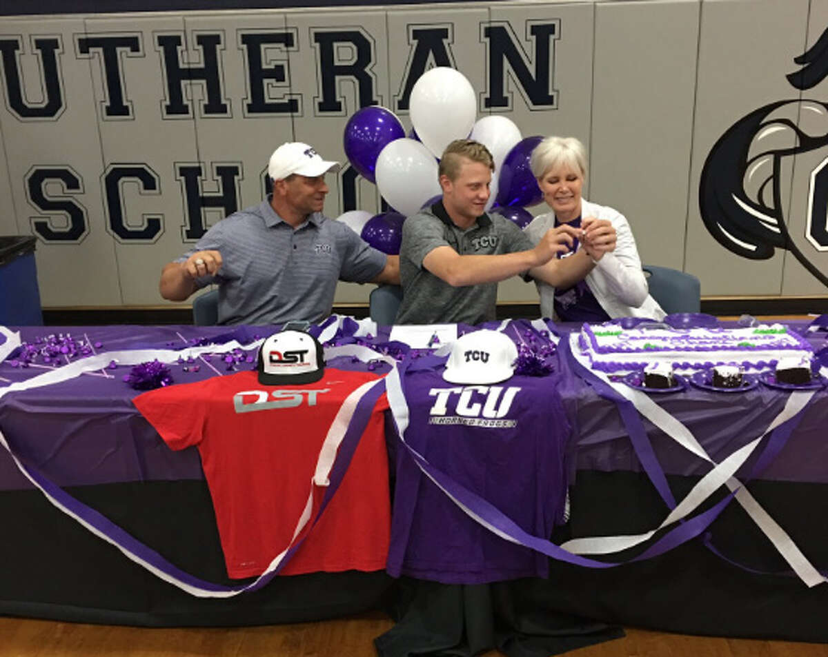 Concordia Lutheran's Shane Baz signed a baseball letter of intent with TCU on Wednesday.