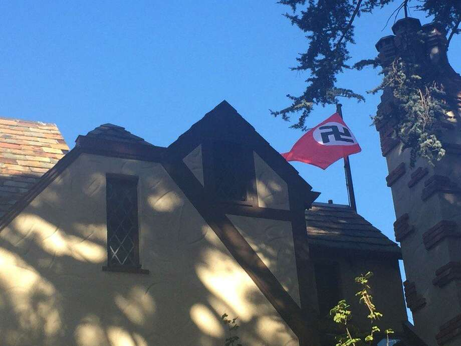 Frederick Roeber, 48, briefly flew a Nazi flag above his San Francisco home in what he described as a protest against president-elect Donald Trump. But neighbors soon spotted the swastika and confronted him. Photo: Michael Bodley / The Chronicle / /