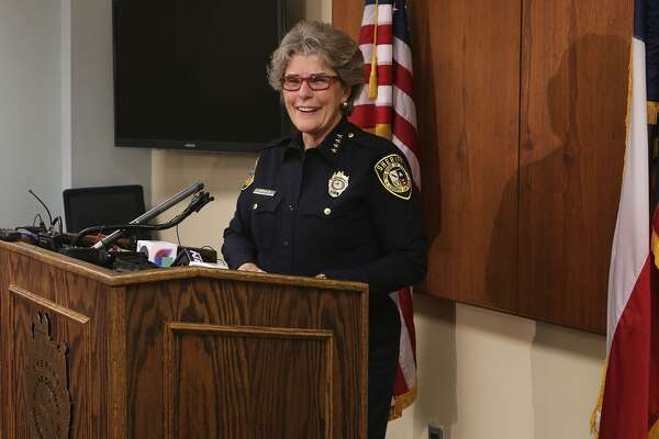 Former Bexar County Sheriff Susan Pamerleau, seen in 2016, would be the first woman to run the marshals service in the Western district, which was created 173 years ago, if confirmed by the Senate.