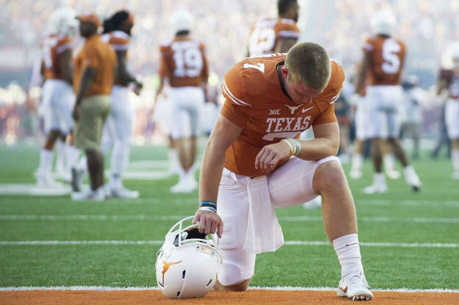 Tranquility is the default mode for quarterback Shane Buechele. Photo: Cooper Neill, Stringer / 2016 Getty Images