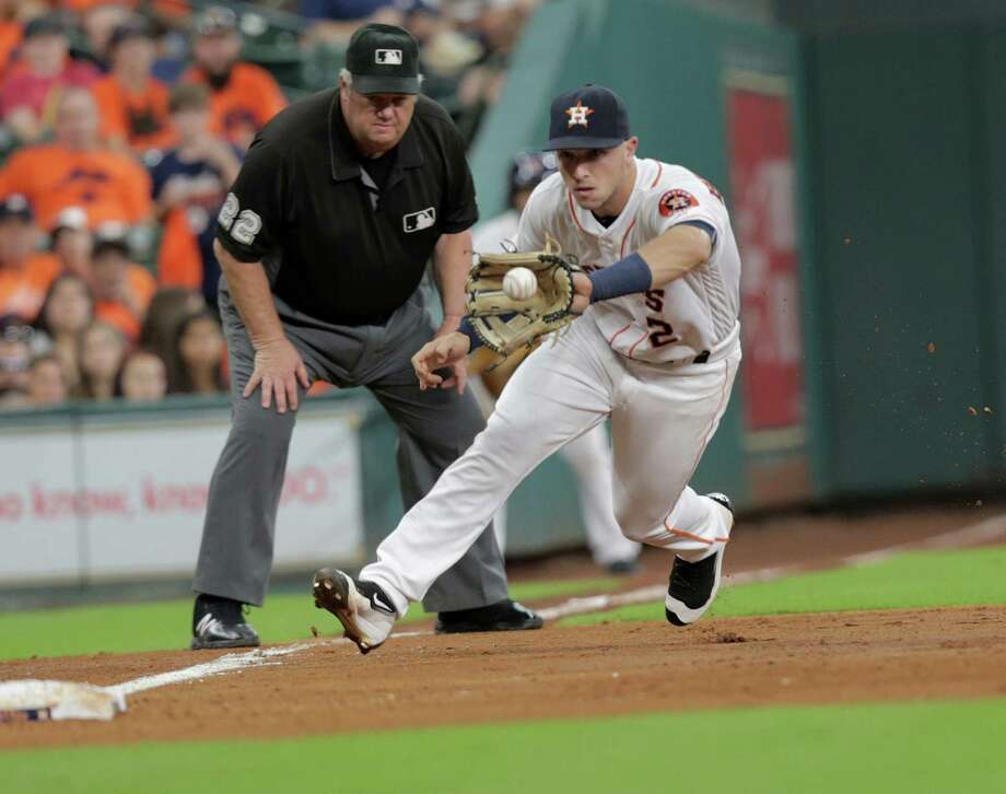 Alex Bregman hit .264 in 201 at-bats over 49 games as a rookie with the Astros. He hit eight home runs and had 34 RBIs. Bregman said Monday he would play only for the United States in the World Baseball Classic. Photo: Elizabeth Conley, Staff / © 2016 Houston Chronicle