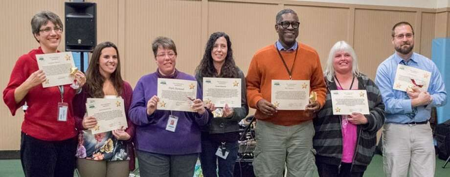 Shown here are some of the 60 people honored with Starlight Awards during Living Resources' Community Achievement Awards ceremony at the Colonie Town Recreation Center in Albany on Oct. 28.