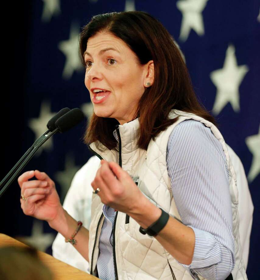 Republican U.S. Sen. Kelly Ayotte speaks to supporters Wednesday morning, Nov. 9, 2016, after telling them her race with Democratic challenger for Senate, Gov. Maggie Hassan was too close to call in Concord, N.H. (AP Photo/Jim Cole) ORG XMIT: NHJC103 Photo: Jim Cole / Copyright 2016 The Associated Press. All rights reserved.