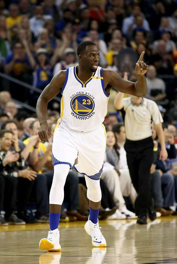 OAKLAND, CA - NOVEMBER 09:  Draymond Green #23 of the Golden State Warriors reacts after making a shot against the Dallas Mavericks at ORACLE Arena on November 9, 2016 in Oakland, California. NOTE TO USER: User expressly acknowledges and agrees that, by downloading and or using this photograph, User is consenting to the terms and conditions of the Getty Images License Agreement.  (Photo by Ezra Shaw/Getty Images) Photo: Ezra Shaw, Getty Images