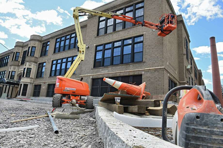 Renovations are underway on Oneida Middle School on Monday, Aug. 22, 2016 in Schenectady, N.Y. The school has been closed for several years and will open again for the school year in September. (Lori Van Buren / Times Union) Photo: Lori Van Buren / 20037745A