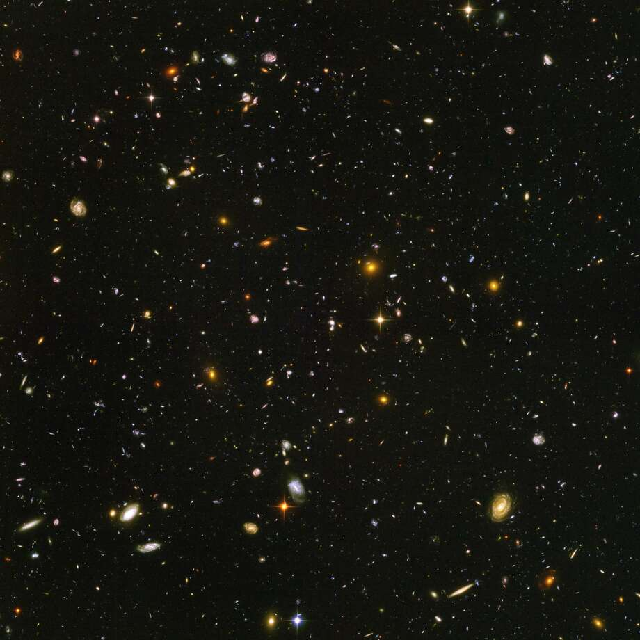 This Hubble Ultra-Deep Field image shows some of the most distant galaxies to have been imaged by an optical telescope, but even a Hubble-like space telescope will someday be a bad investment for our distant descendants, as very few galaxies will be close enough for it to observe, Seth Shostak with the SETI Institute says. Photo: Science & Society Picture Library/SSPL Via Getty Images