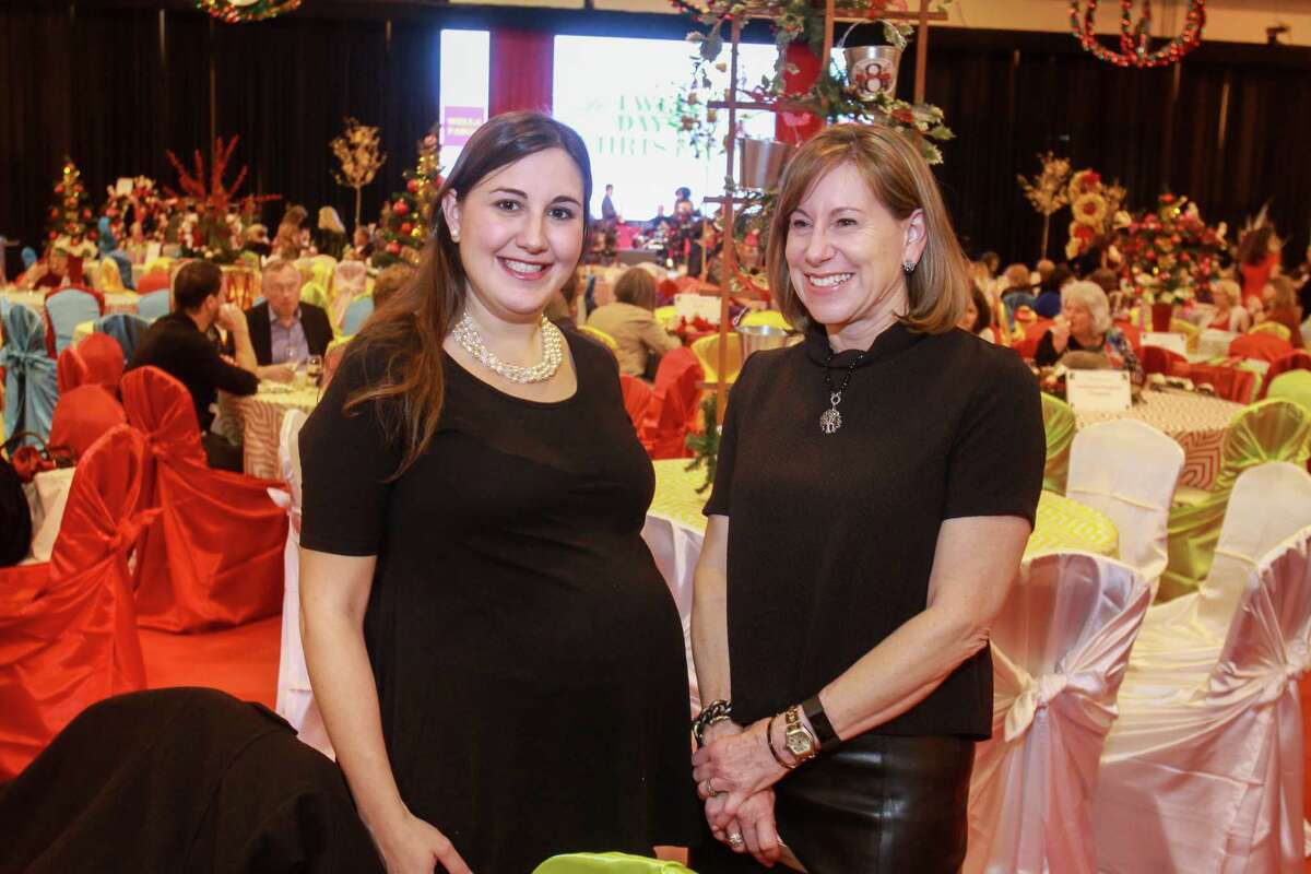 Allison Jones, left, and Susan Harris at the annual Nutcracker Market preview party. (For the Chronicle/Gary Fountain, November 9, 2016)