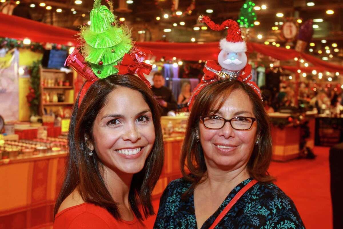 Jacqui Mackel, left, and Vikki Delgado at the annual Nutcracker Market preview party. (For the Chronicle/Gary Fountain, November 9, 2016)