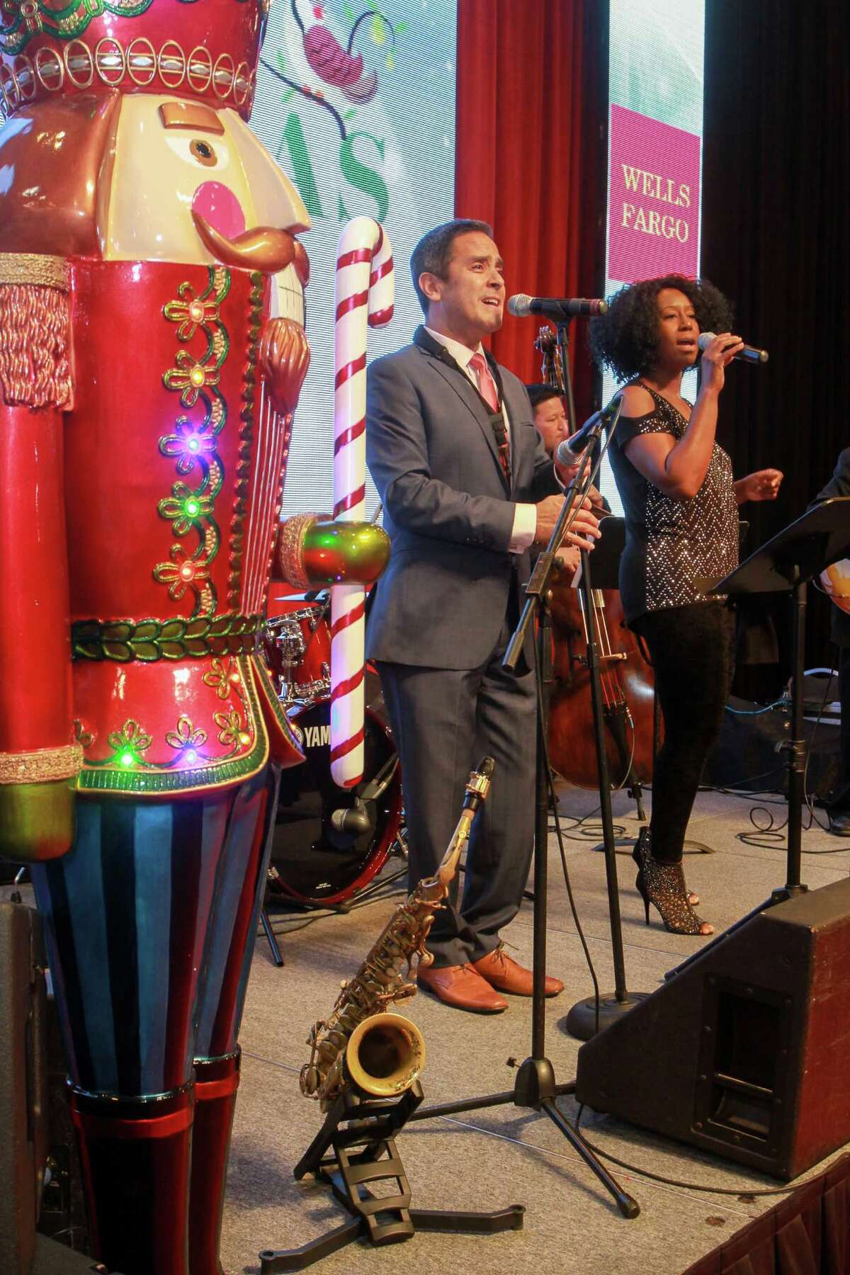 The David Caceres Band performing at the annual Nutcracker Market preview party. (For the Chronicle/Gary Fountain, November 9, 2016)